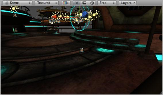 Функция OnDrawGizmos, отображающая значок робота в редакторе Unity3D