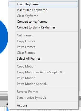 выбираем Insert Keyframe в контекстном меню