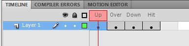 ключевые кадры объекта Button в AdobeFlash