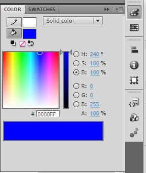 в настройках Color выбираем цвет для кнопки