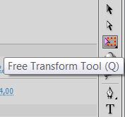 уменьшаем размер кнопки при помощи инструмента Free Transform Tool