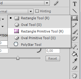 нарисуем кнопку инструментом Rectangle Primitive Tool