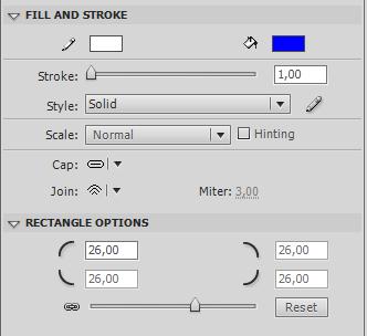 немного закруглим углы кнопки для Rectangle Primitive
