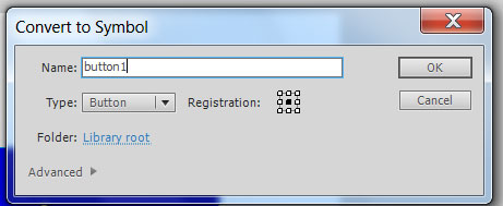 называем символ в AdobeFlash