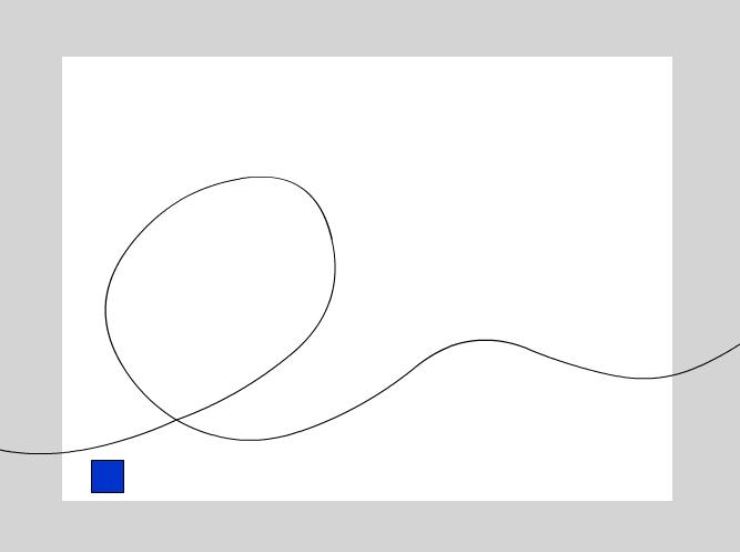 рисуем направляющую инструментом Pencil Tool