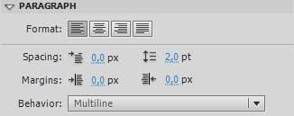 установите параметр Multiline в свойстве PARAGRAPH динамического поля в Adobe Flash