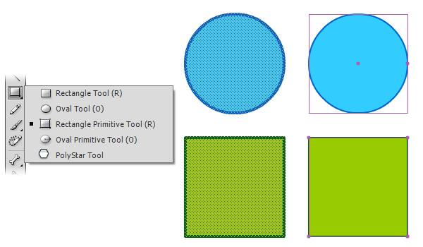 примитивные формы в AdobeFlash
