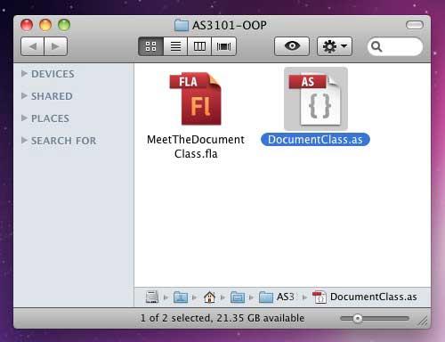 Создаем Flash-файл DocumentClass ActionScript 3.0