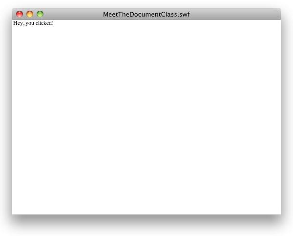 вывод сообщения в приложении после изменения кода ActionScript