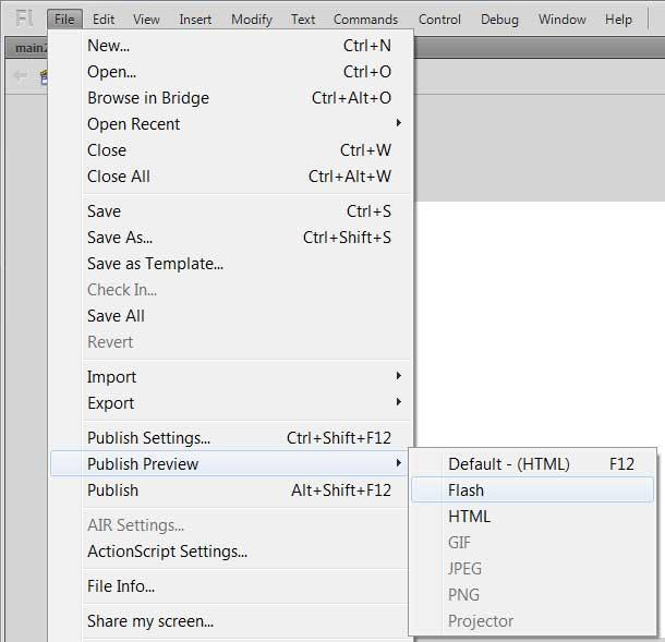 Запуск приложения AdobeFlash