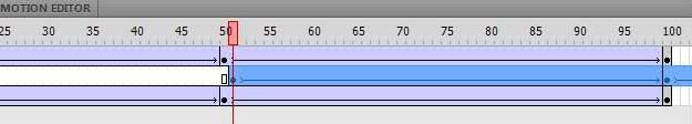 Перетаскивание кадров анимации на панели Timeline в Adobe Flash
