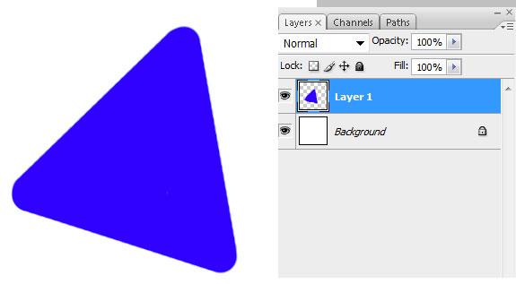Рисование несложной геометрической фигуры в Photoshop