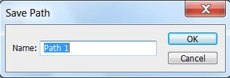 Окно для задания имени векторному пути в Photoshop