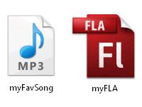 Документ AdobeFlash и звуковой файл