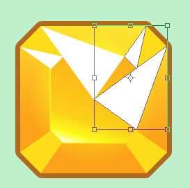 Поворот векторных треугольников, нарисованные при помощи инструмента Pen Tool в Photoshop