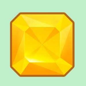 Векторный алмаз, нарисованный при помощи векторных объектов в Photoshop