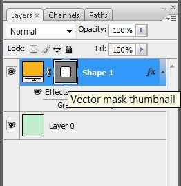 Выделение векторной маски на слое в Photoshop