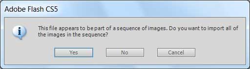 Распознавание файлов анимации при импортировании файлов в AdobeFlash