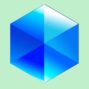 Настройка параметров для граней алмаза в Photoshop