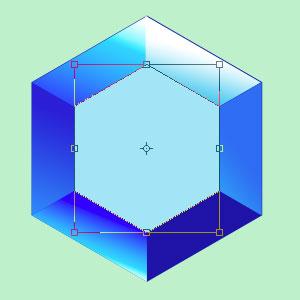 Создание второго векторного объекта для алмаза в Photoshop