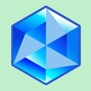 Рисование векторных треугольников для алмаза в Photoshop