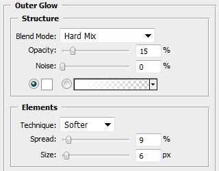 Настройка параметров свечения для слоя в Photoshop