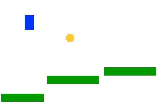 Нарисуйте простую желтую окружность, это будет монетка в игре платформере