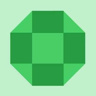Прямоугольные грани драгоценного камня в Photoshop