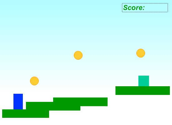 Рисунок заднего фона для игры-платформера в AdobeFlash