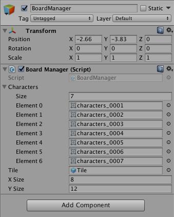 Установка позиции игрового поля для игры Match3 в Unity3D