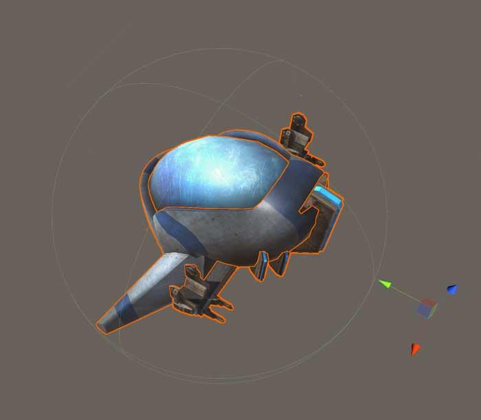 Компонент коллайдер игрового объекта Spaceship