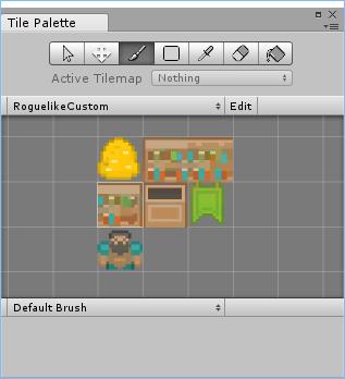 Пользовательская палитра тайлов в Unity