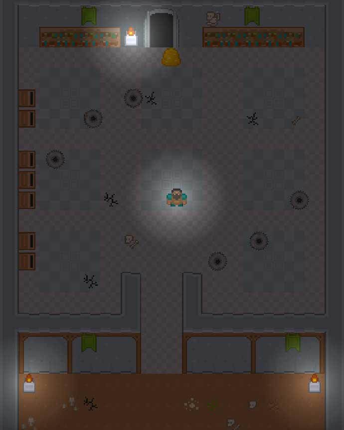 Готовая игра с тайловой картой подземелья в Unity