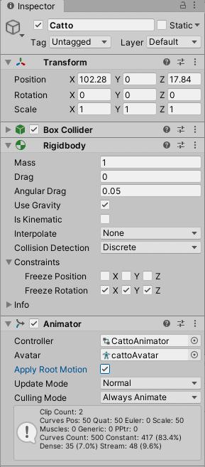 Как настроить начальные параметры для игры с движением при помощи мыши в Unity