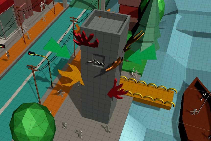 Прототип высокого здания в Unity