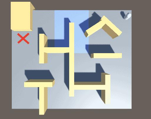 Пример поиска пути NavMesh, который избегает области навигации с высокой стоимостью в редакторе Unity