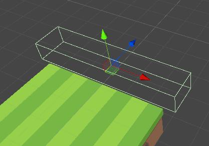 Отображение границ коллайдера игрового объекта в окне сцены редактора Unity