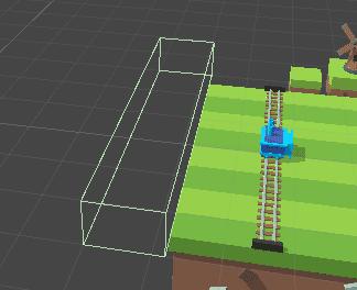 Установка игрового объекта с компонентом коллайдера в Unity