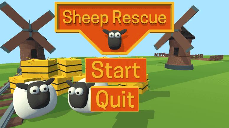Окно главного экрана игры в редакторе Unity
