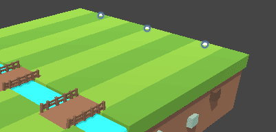 Точки появления овец в сцене редактора Unity
